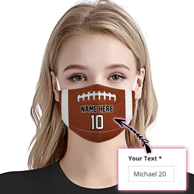Personalized Football Name And Number 01 EZ01 2805 Custom Face Mask - Hyperfavor