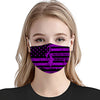 Pancreatic Cancer Awareness American Flag Black EZ01 Face Mask - Hyperfavor