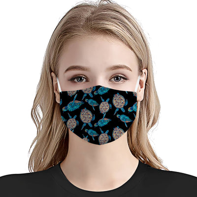 Sea Turtle Pattern 07 EZ01 Face Mask - Hyperfavor