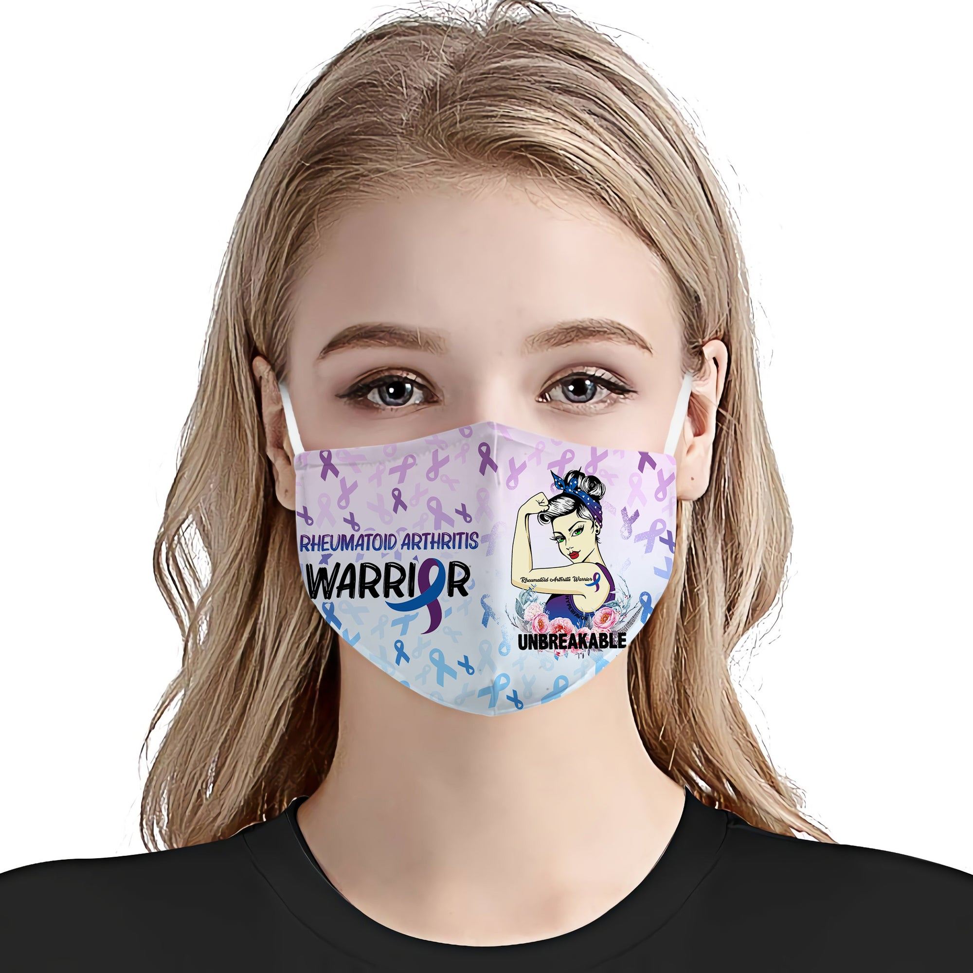 Rheumatoid Arthritis Awareness Unbreakable EZ01 Face Mask - Hyperfavor