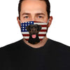 Rottweiler With American Flag EZ01 Face Mask - Hyperfavor