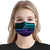 Suicide Prevention Awareness American Flag Black EZ01 Face Mask - Hyperfavor
