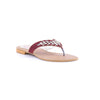Maroon Color Fancy Chappals FN0293