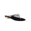 Black Color Fancy Chappals FN0302