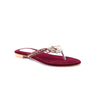 Maroon Color Fancy Chappals FN0302