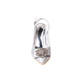 Silver Color Open Fancy Sandal FN4149