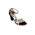 Golden Color Fancy Sandal FN4198