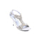 Silver Color Open Fancy Sandal FN4199
