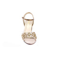 Golden Color Open Fancy Sandal FN4210