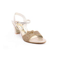 Golden Color Fancy Sandal FN4253