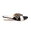 Black Color Fancy Slipper FN7161