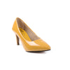 Mustard Color Winter Court Shoes WN7148