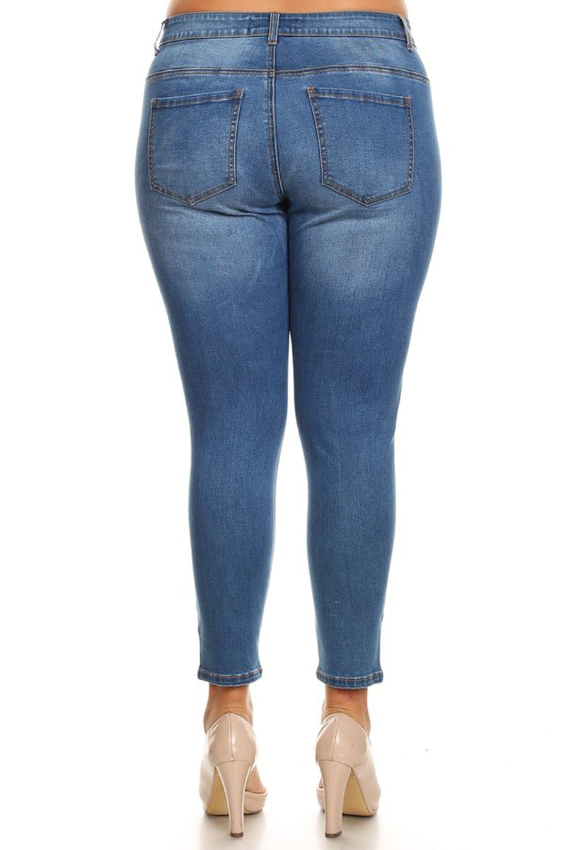 Basic Mid-Rise Skinny Jeans