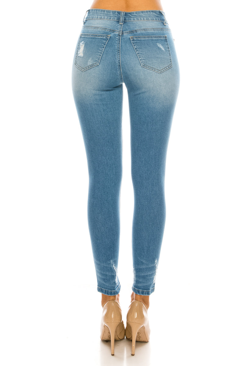 Mid-Rise 5-Pocket Ankle Skinny Jeans