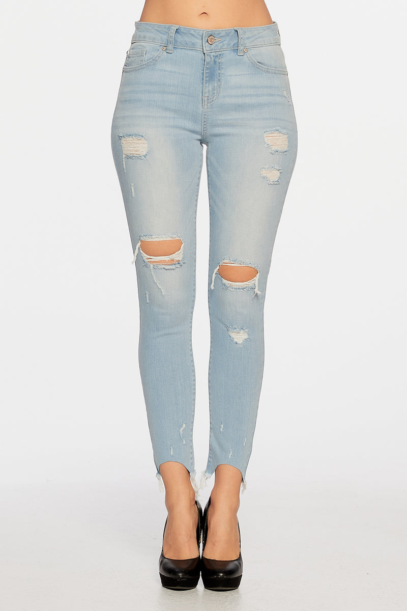 Mid-Rise 5-Pocket Skinny Jeans