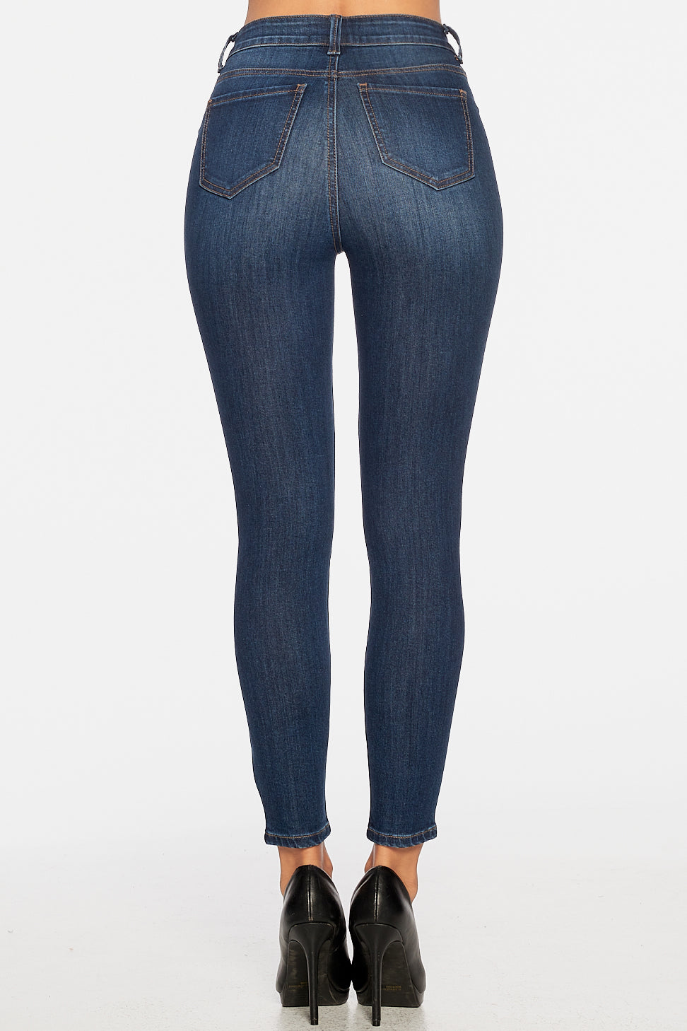High-Rise 5-Pocket Skinny Jeans