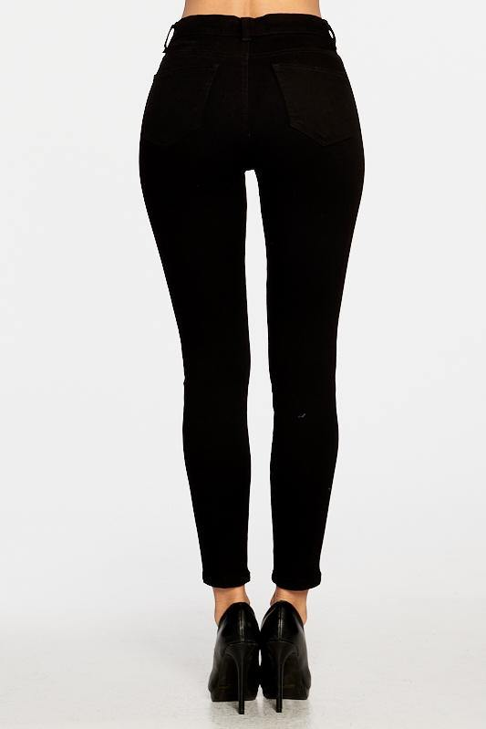 High-Rise Ankle Skinny with rinse wash