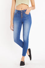 High Rise 5-pocket Ankle Skinny Destruction - Shop ENJEAN
