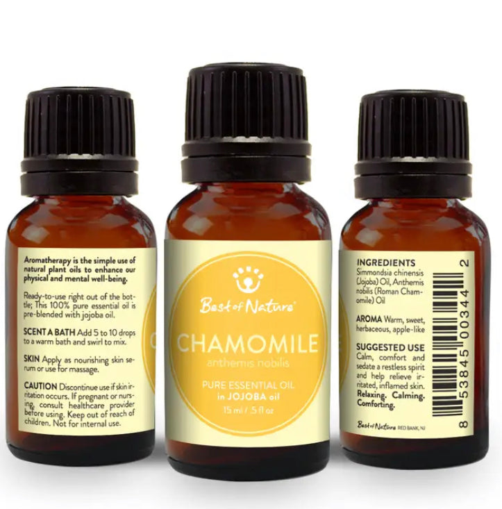 Chamomile Pure Essential Oil with Jojoba oil