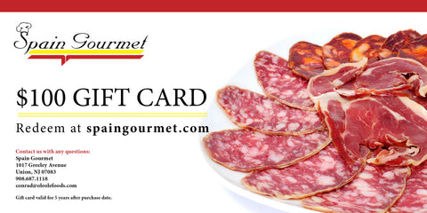 $100 Spain Gourmet Gift Card