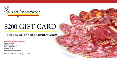 $200 Spain Gourmet Gift Card