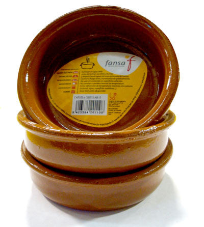 Terra Cota Cazuelas 7.5 inches (3 Pack) - Spain Gourmet