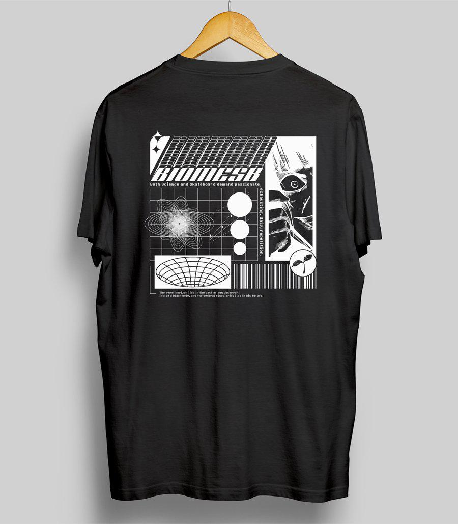 T-shirt | Noir-Biomeskateboard