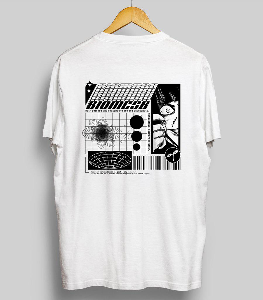T-shirt | Blanc-Biomeskateboard
