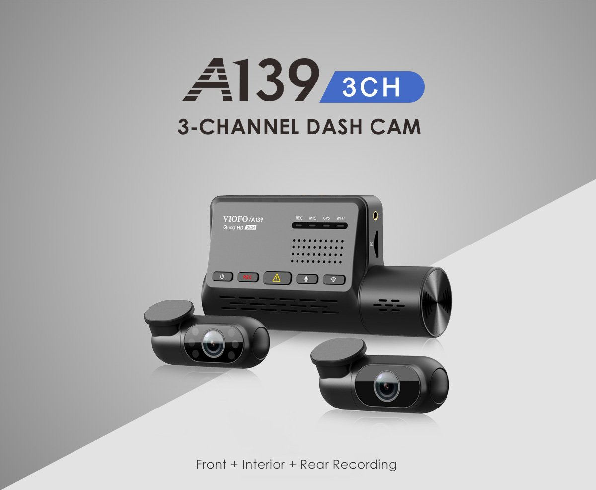 NEW 2021 VIOFO A139 3CH 3-Channel Dash Camera