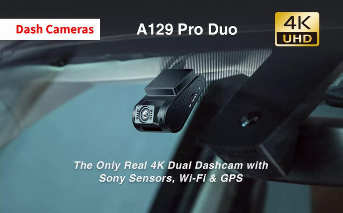 The Only Real 4K Dual Dashcam with Sony Sensors, Wi-Fi & GPS