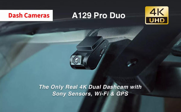 The Only Real 4K Dual Dashcam with Sony Sensors, Wi-Fi & GPS - Viofo UK