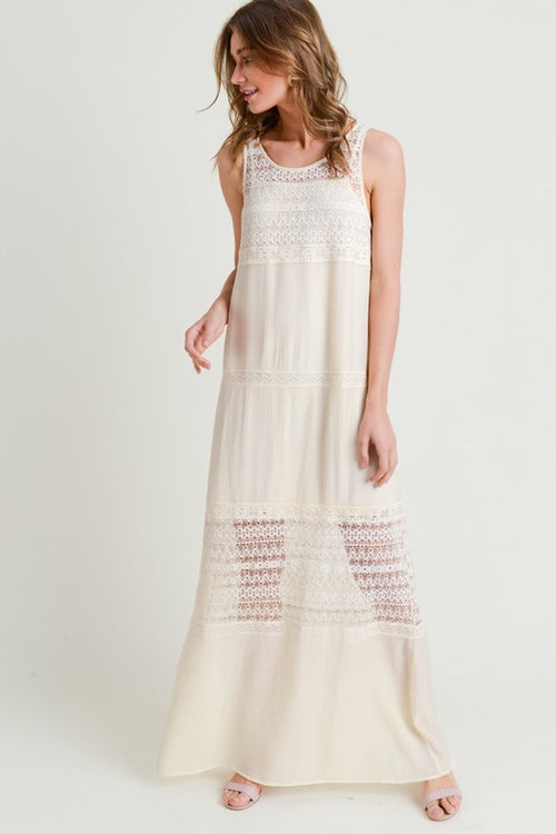 Vintage Lace Detailed Maxi Dress