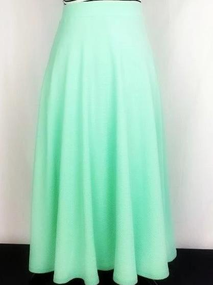 Solid Mint Maxi Skirt with stretchy waist.