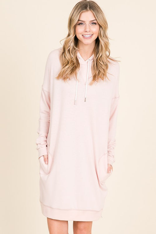 Blush Hoodie Dress