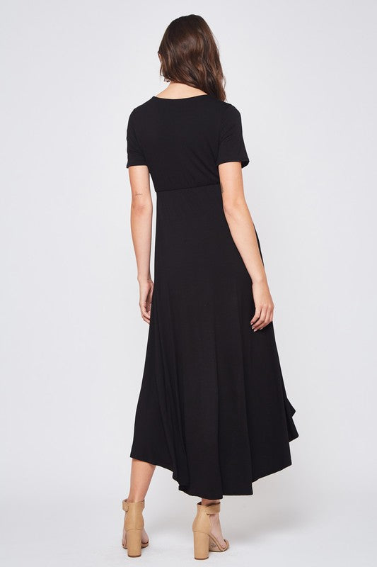 Solid Black Maxi Dress - FrouFrou Couture