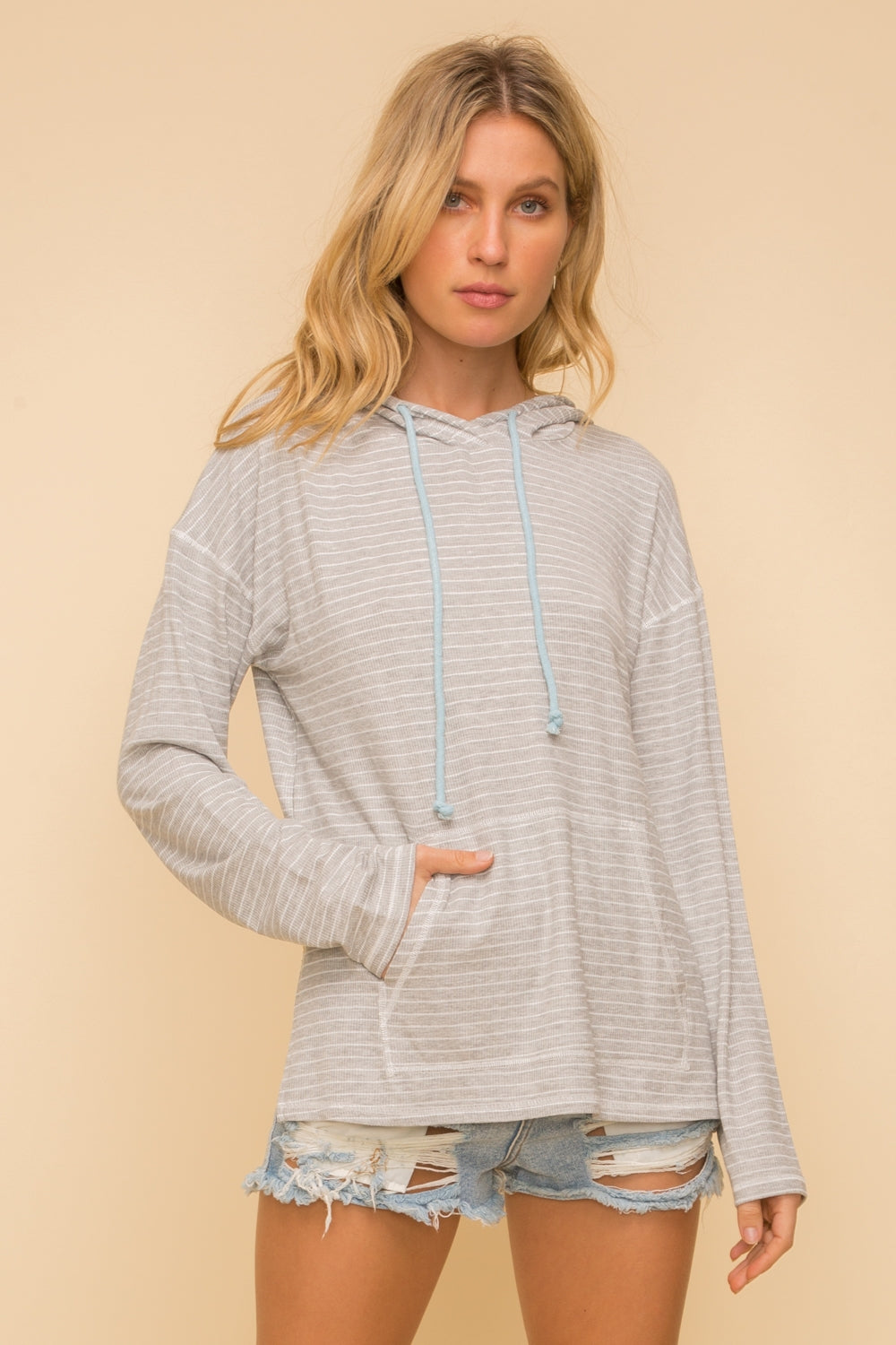Pin Stripe Hoodie - FrouFrou Couture