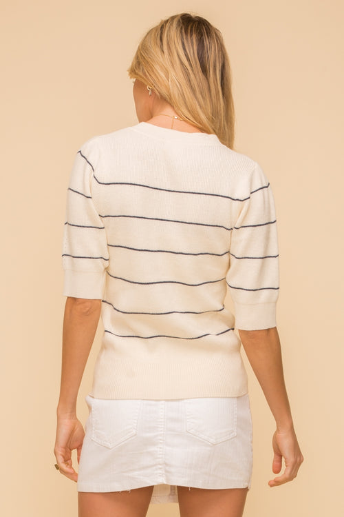 Stripe Sweater Top - FrouFrou Couture