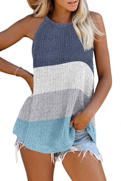 COLORBLOCK KNIT TANK