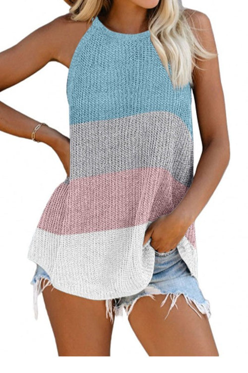 Colorblock knit top