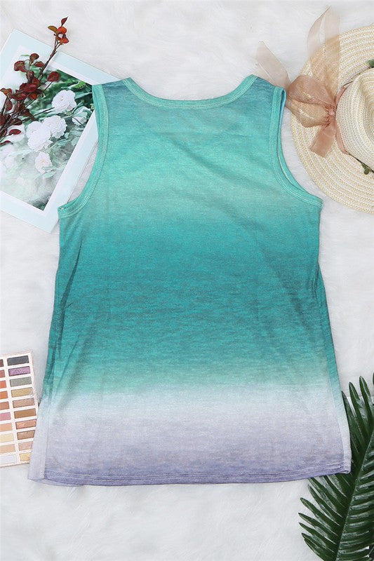 Multicolor Ombre Tank Top - FrouFrou Couture