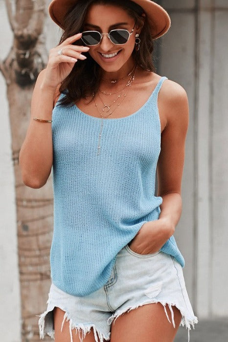 Strappy Casual Knit Top - FrouFrou Couture