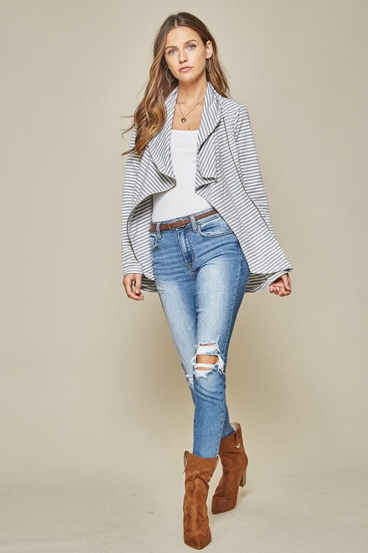 Stripe Comfy Jacket - FrouFrou Couture