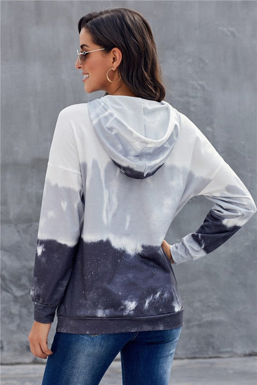 Tie dye Gradient Long Sleeve Pullover Hoodie - FrouFrou Couture