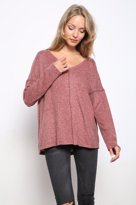 Loose Fit Hacci Top - FrouFrou Couture