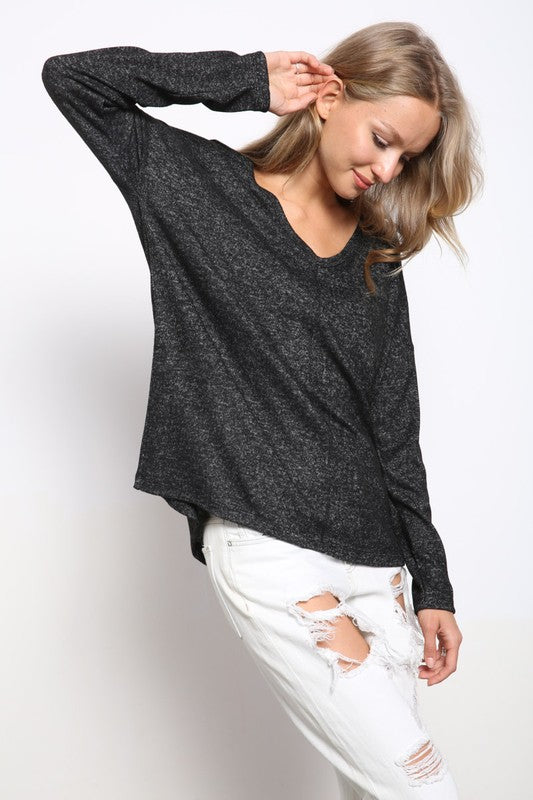 Loose Fit Hacci Top
