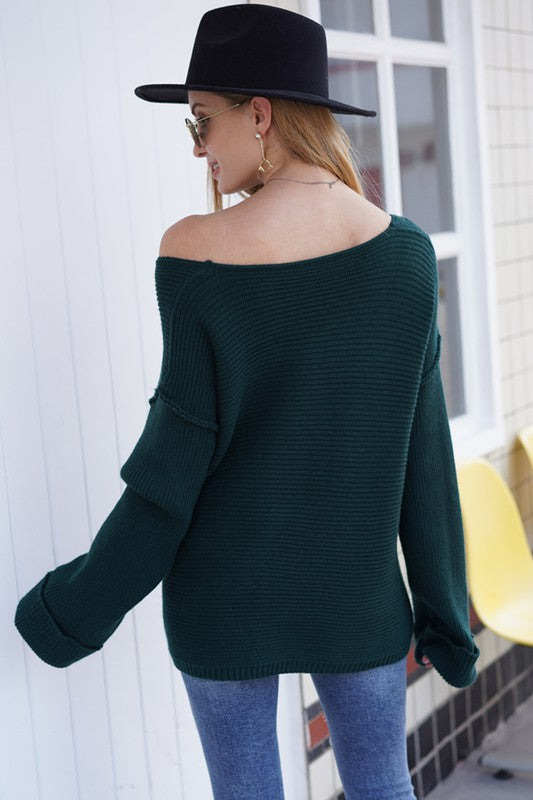 One Shoulder Sweater - FrouFrou Couture
