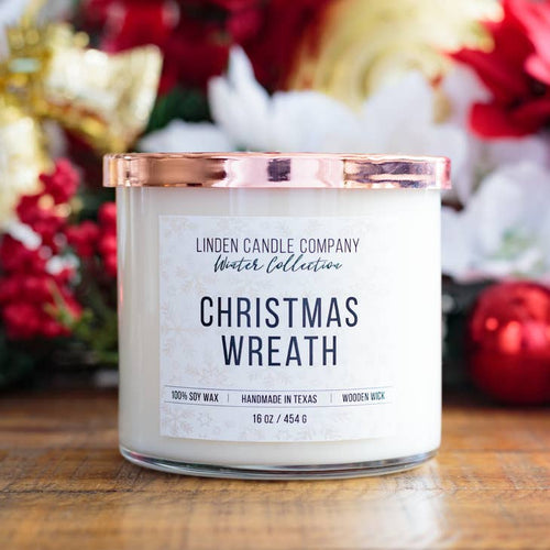 Christmas Wreath 16oz Soy Candle - FrouFrou Couture