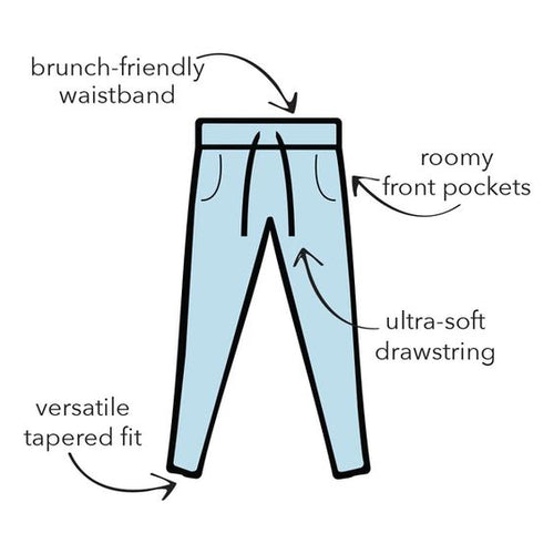 THE WEEKENDER GRAY DRAWSTRING PANTS