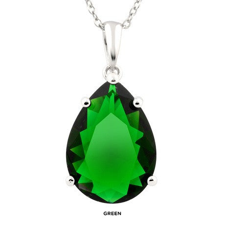 Green 18ct Teardrop Cocktail Necklace