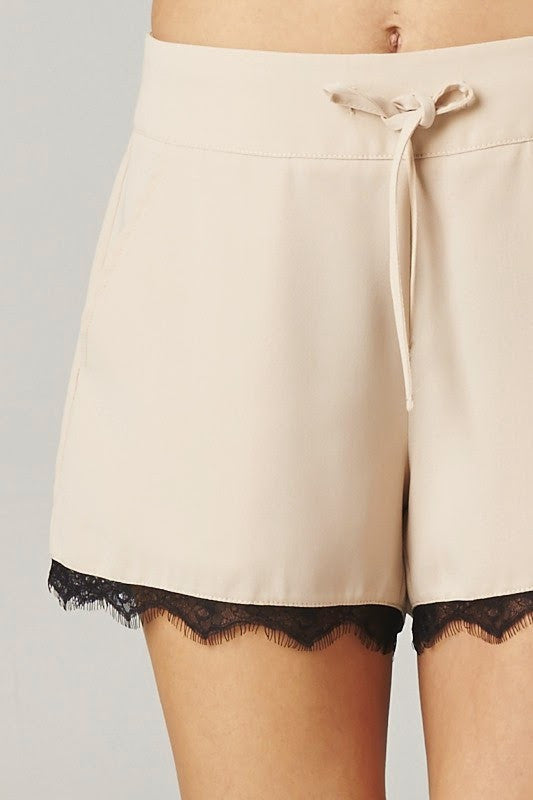 Lace Trimmed Shorts - FrouFrou Couture